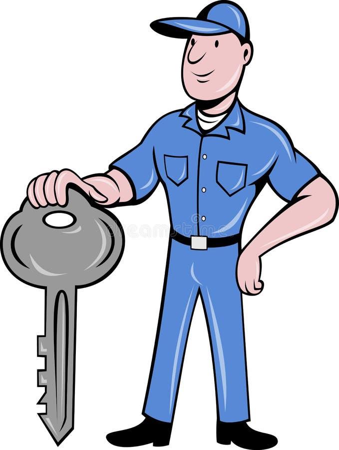 Locksmith standing front vector illustration
