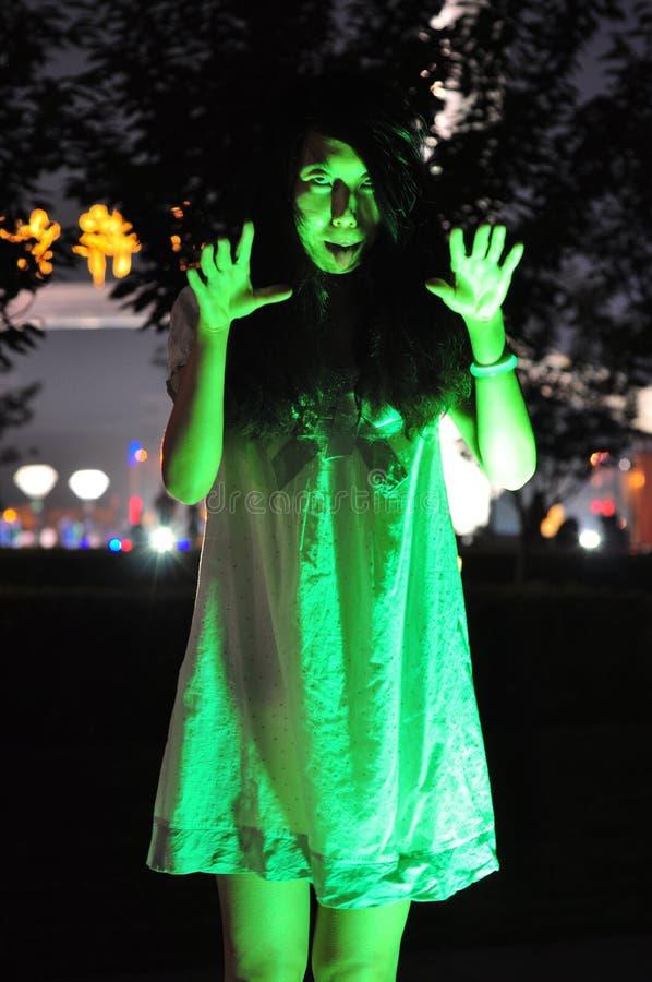 loco Fantasma femenino foto de archivo
