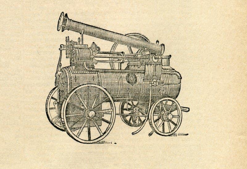 Locomobile ilustração stock