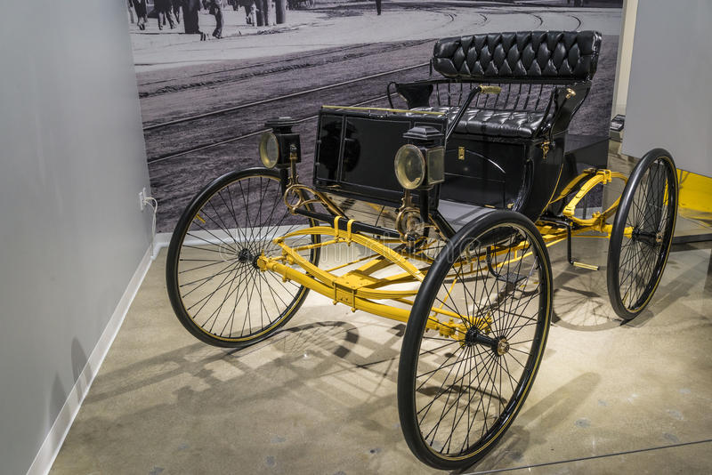 Locomobile 1900. A 1900 locomobile steeam run about classic car royalty free stock photography