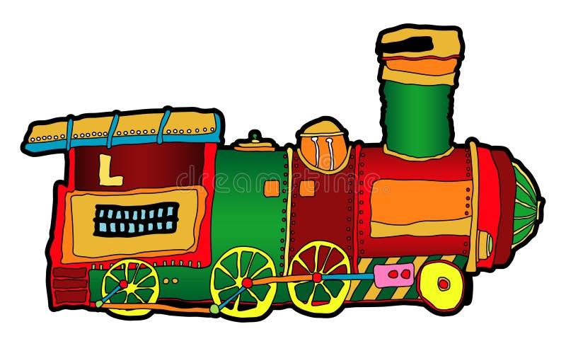 Locomotief vector illustratie