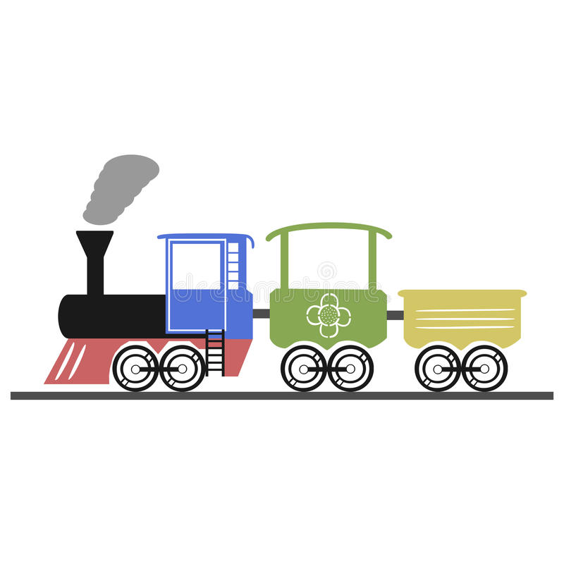 locomotief stock illustratie