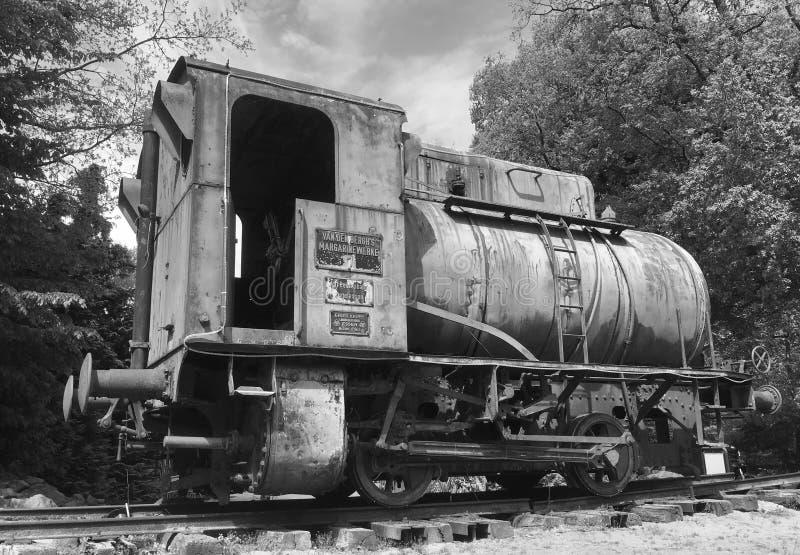 Locomotief van de Krupp Fireless Stoom stock foto's