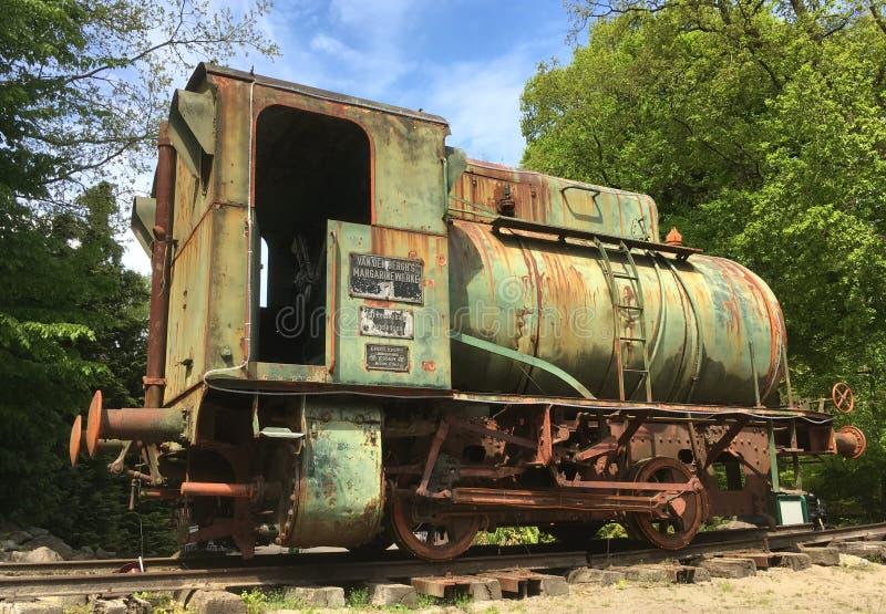 Locomotief van de Krupp Fireless Stoom stock afbeeldingen