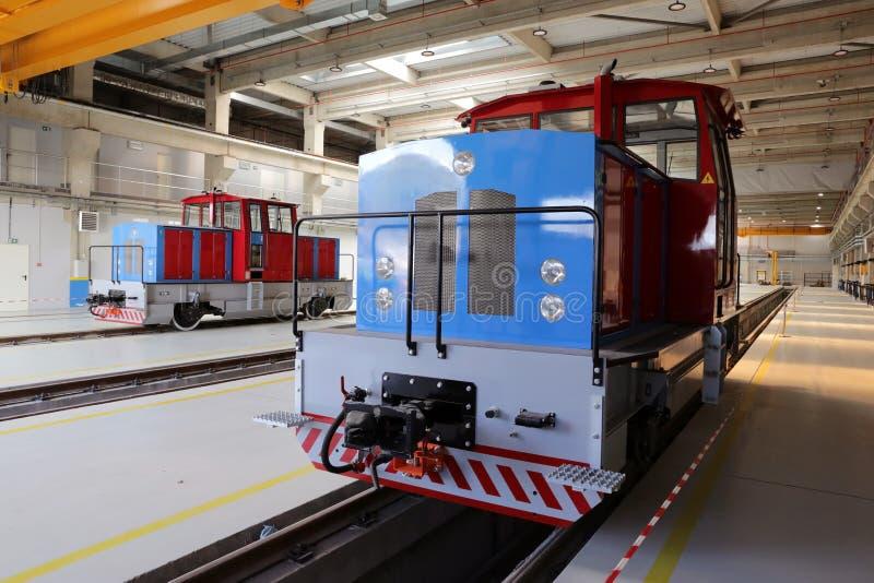Locomotieven in een depot royalty-vrije stock foto's