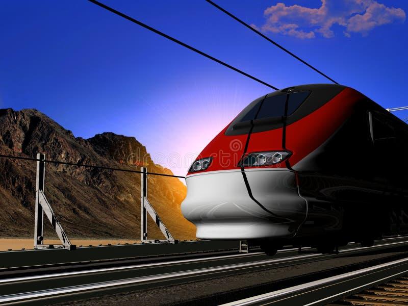 A locomotiva ilustração stock