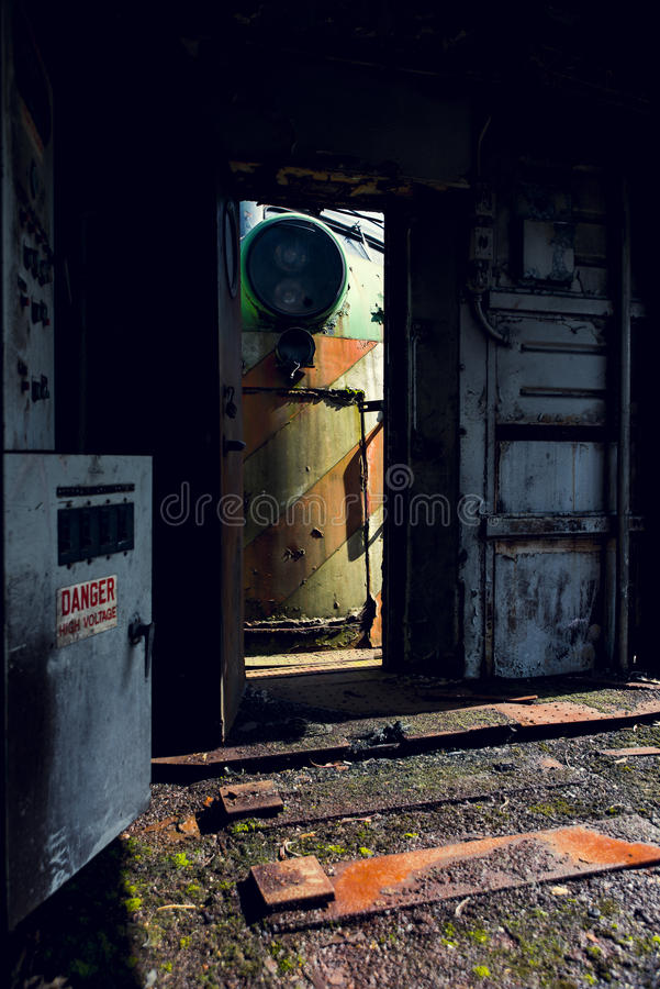 Locomotiva abandonada - trem - Ohio foto de stock royalty free