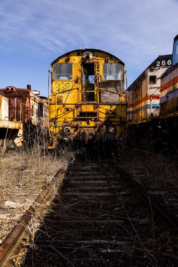 Locomotiva abbandonata - treno - l'Ohio fotografie stock