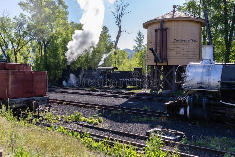 Locomotiva cênico da estrada de ferro de Cumbres & de Toltec foto de stock royalty free