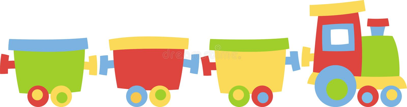 Locomotiva com carros ilustração royalty free