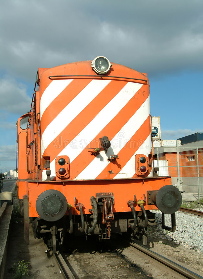 Locomotiva de diesel fotos de stock