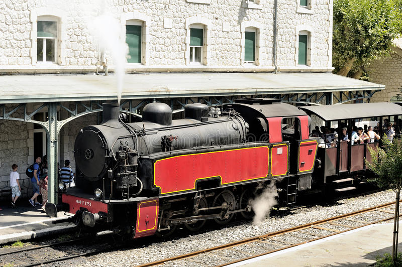 A locomotiva de vapor imagem de stock royalty free