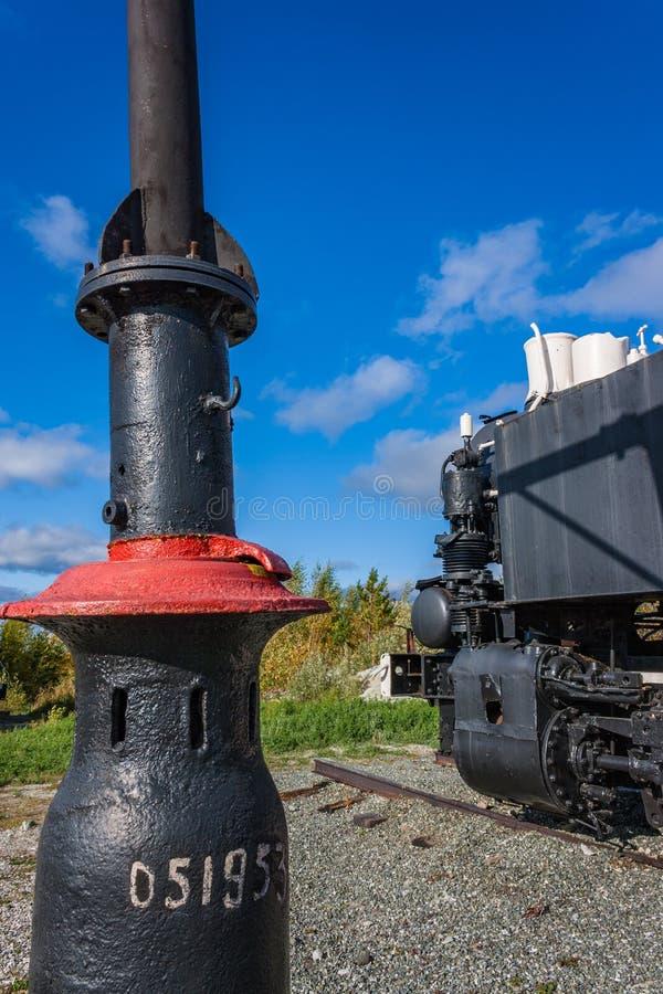 Locomotiva de vapor antiga fotografia de stock royalty free