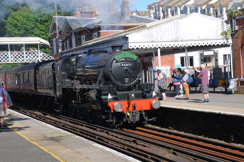 Locomotiva de vapor da classe 5 de LMS, St Leonards fotografia de stock