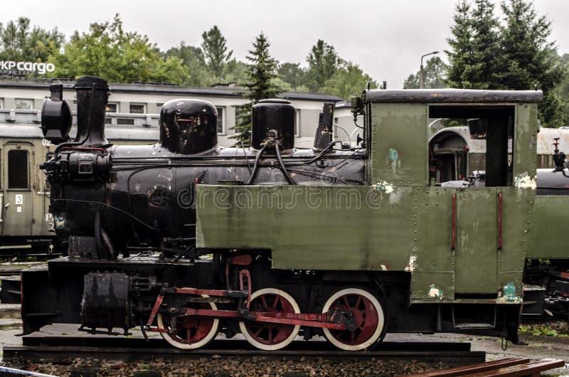 Locomotiva de vapor, estrada de ferro imagem de stock royalty free