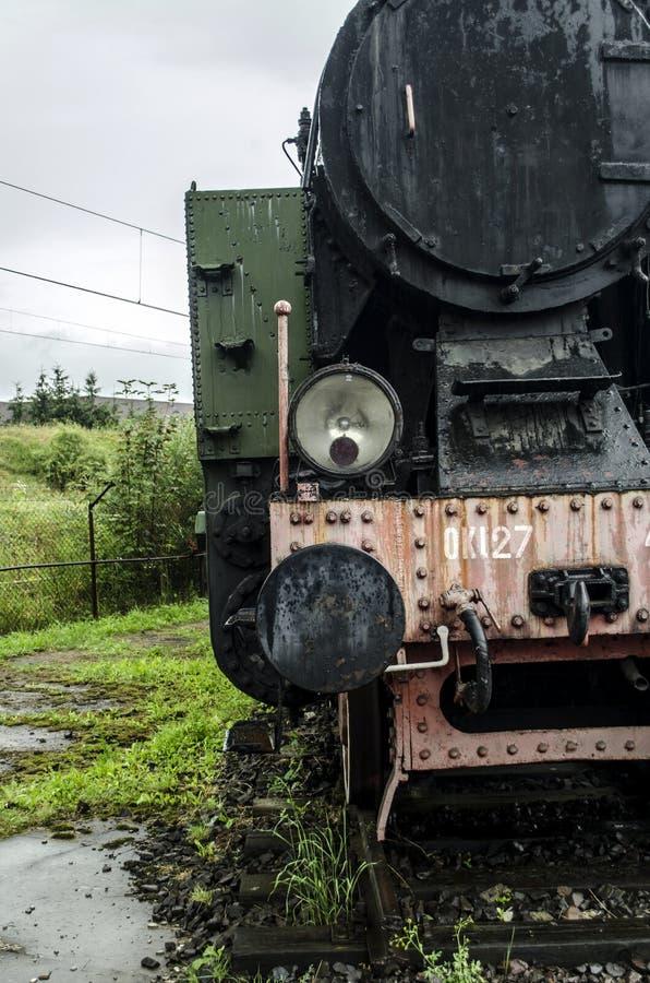 Locomotiva de vapor, estrada de ferro foto de stock