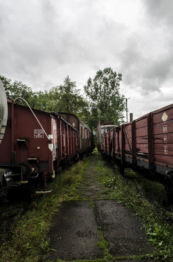 Locomotiva de vapor, estrada de ferro foto de stock royalty free