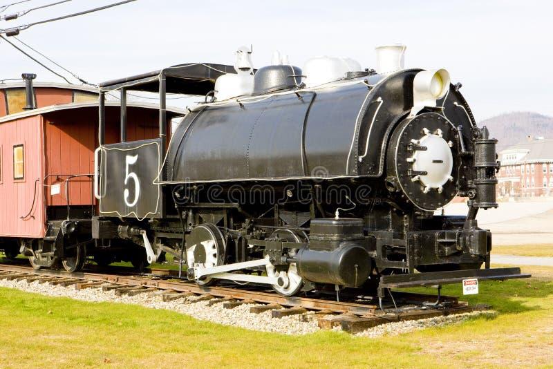 locomotiva de vapor, Groveton, New Hampshire, EUA imagem de stock