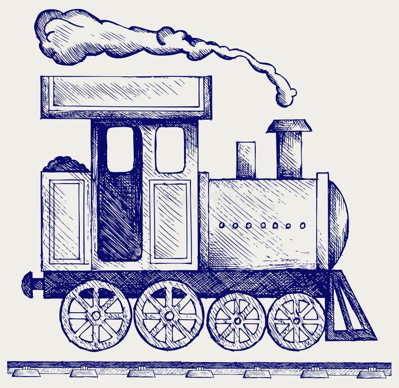 Locomotiva de vapor ocidental selvagem ilustração stock