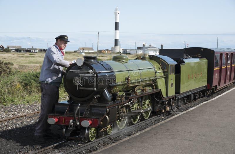 Locomotiva de vapor que é Reino Unido lustrado fotografia de stock royalty free