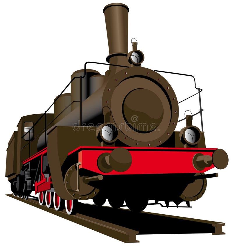 Locomotiva de vapor velha ilustração royalty free