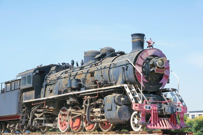 Locomotiva de vapor velha imagem de stock