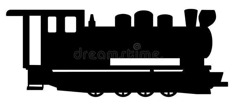 Locomotiva de vapor velha ilustração do vetor