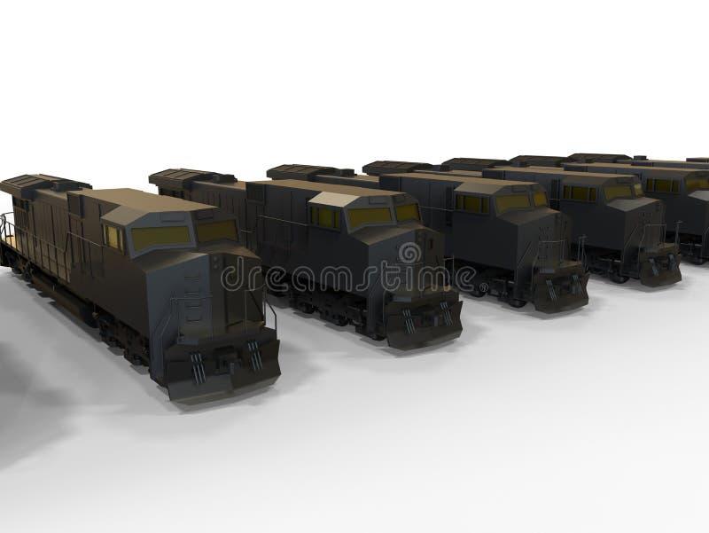 Locomotiva del treno merci illustrazione vettoriale