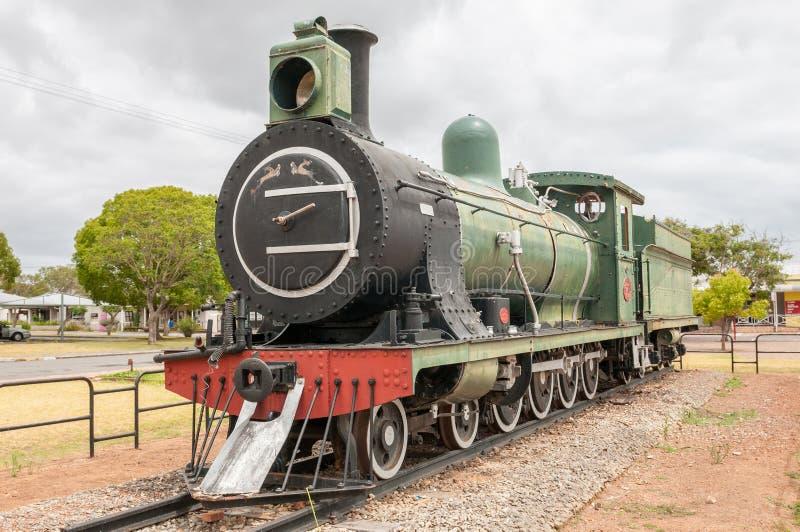 Locomotiva del treno a vapore della classe 7 in Riversdale immagine stock libera da diritti
