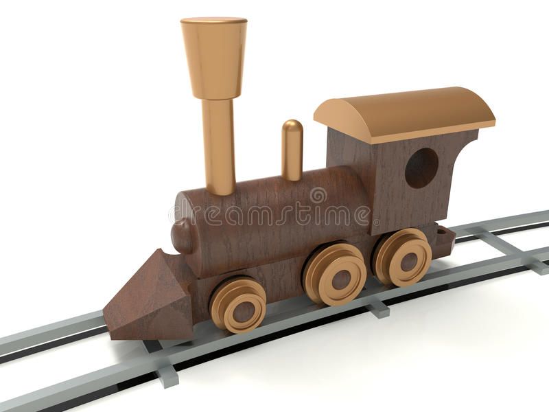 Download Locomotiva Detalhada De Madeira Ilustração Stock - Ilustração de detalhado, terra: 65575888