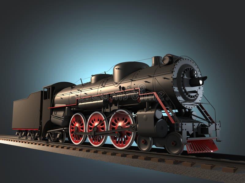 Locomotiva di vapore royalty illustrazione gratis