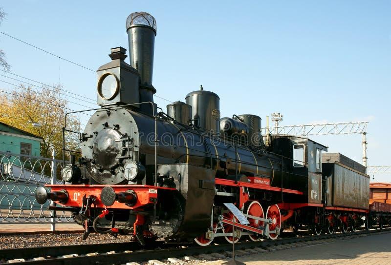 Locomotiva di vapore antica immagine stock libera da diritti