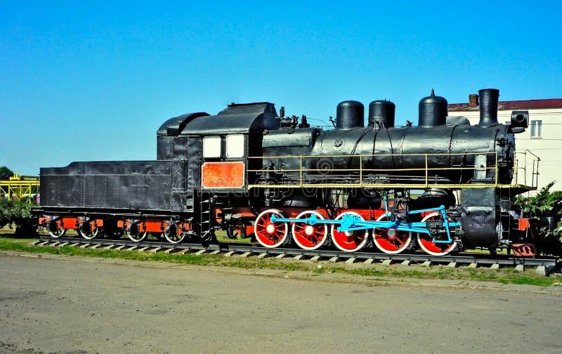 Locomotiva di vapore antica immagine stock