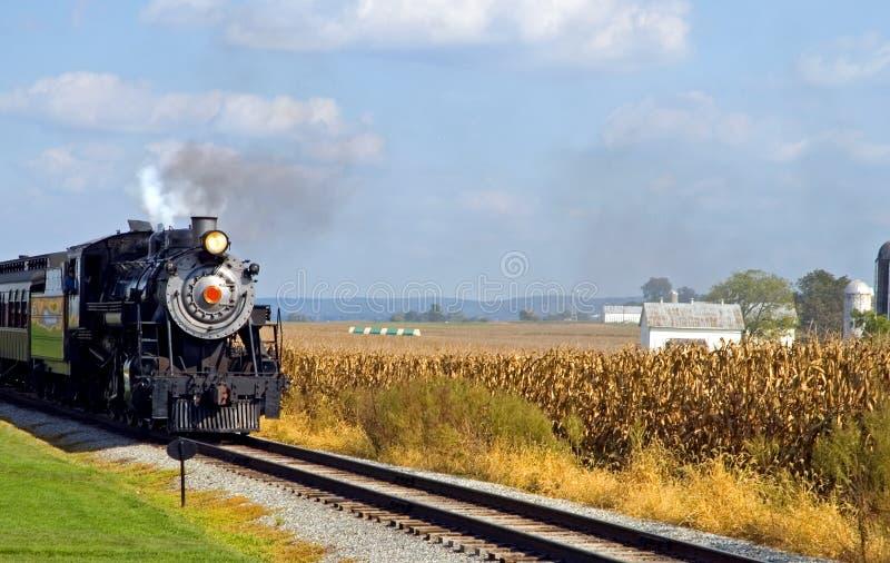 Locomotiva di vapore del paese fotografia stock libera da diritti