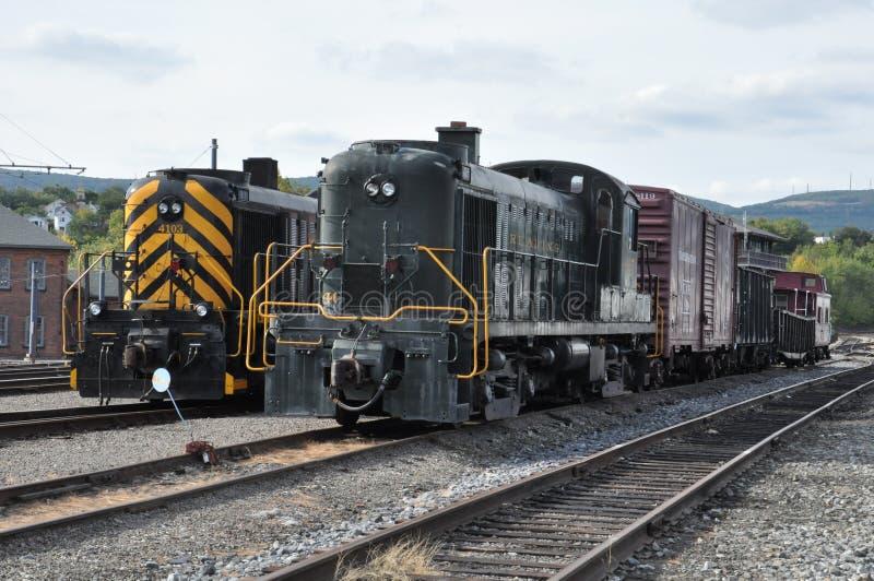 Locomotiva diesel al sito storico nazionale di Steamtown in Scranton, Pensilvania immagini stock