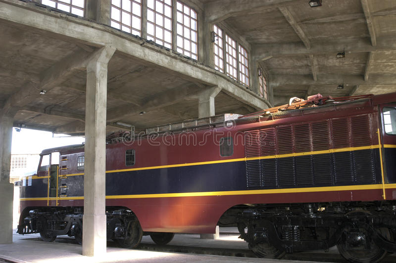 Locomotiva elétrica imagens de stock