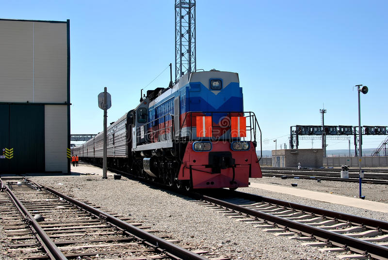 Locomotiva, trem transiberiano imagens de stock royalty free