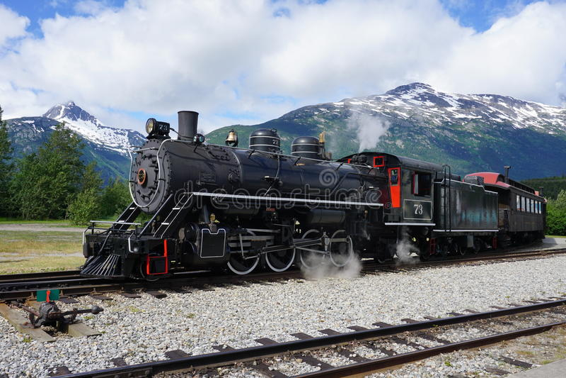 Locomotiva turística antiga fotografia de stock