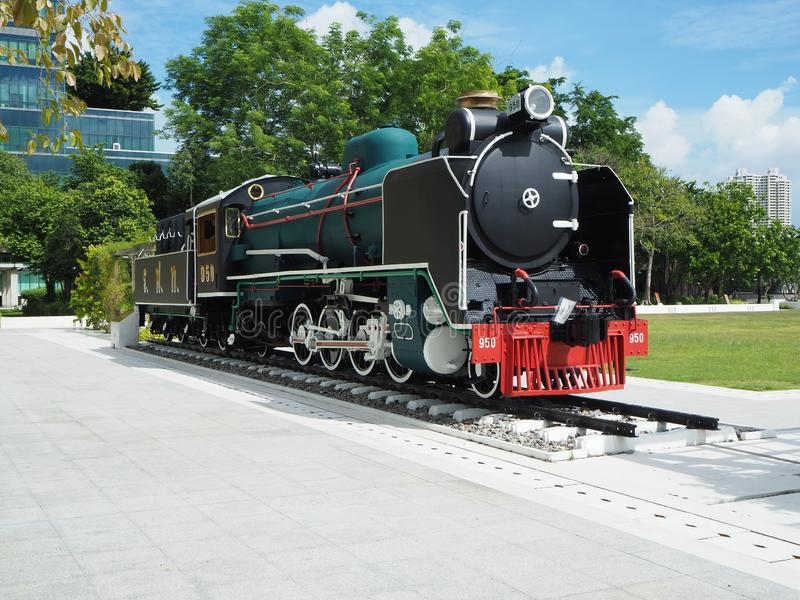 Locomotiva a vapore di Mikado all'ospedale di Siriraj fotografia stock