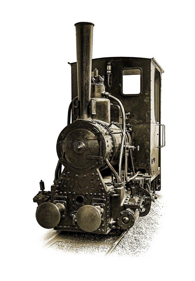 Locomotiva a vapore industriale del calibro stretto fotografia stock libera da diritti