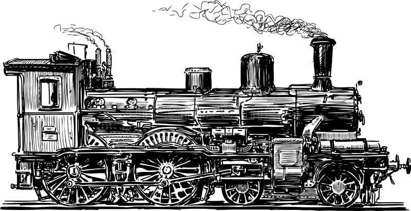 Locomotiva velha ilustração stock