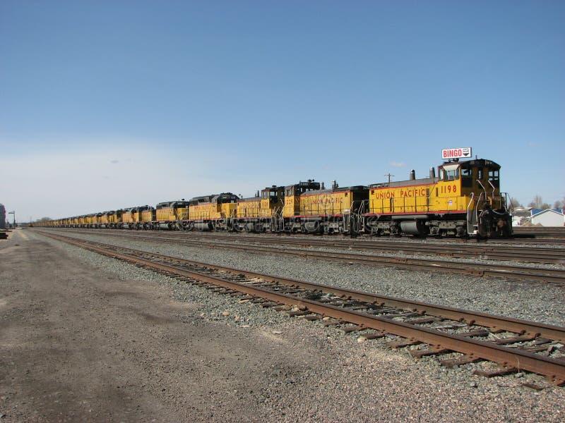 Locomotivas armazenadas imagens de stock royalty free