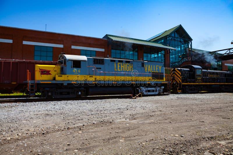 Locomotivas nacionais do local histórico de Steamtown imagem de stock