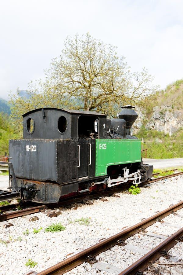 locomotive à vapeur, Dobrun, la Bosnie et Hercegovina photo stock