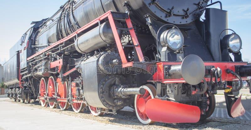 Locomotive à vapeur polonaise avec l'offre photographie stock libre de droits