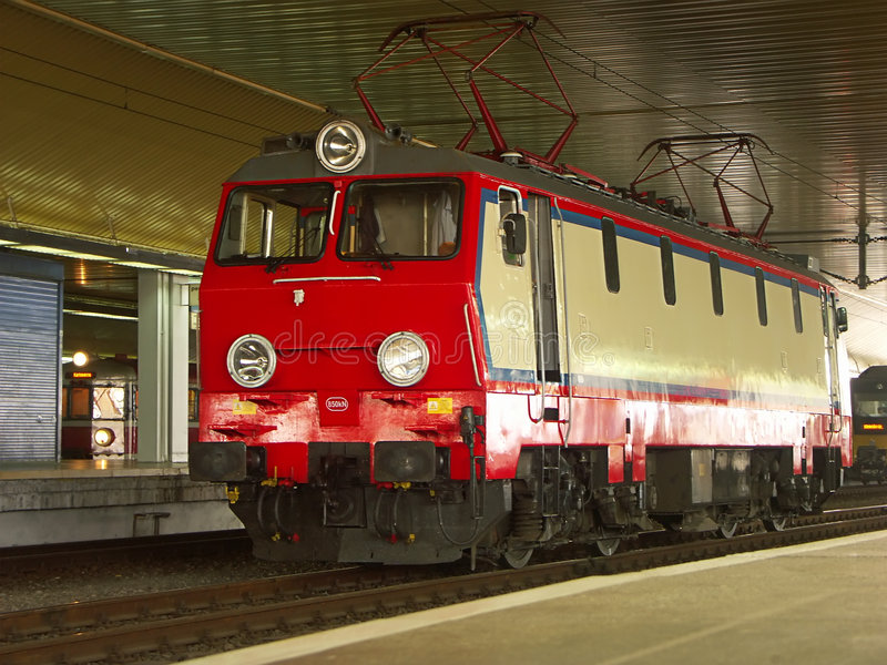 Locomotive électrique photo stock