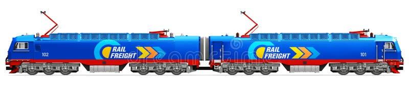 Locomotive électrique de fret lourd moderne illustration libre de droits