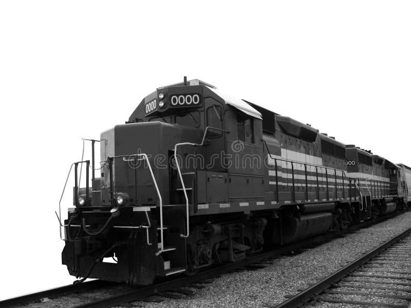 Locomotive électrique diesel de fret sur des pistes de train image libre de droits