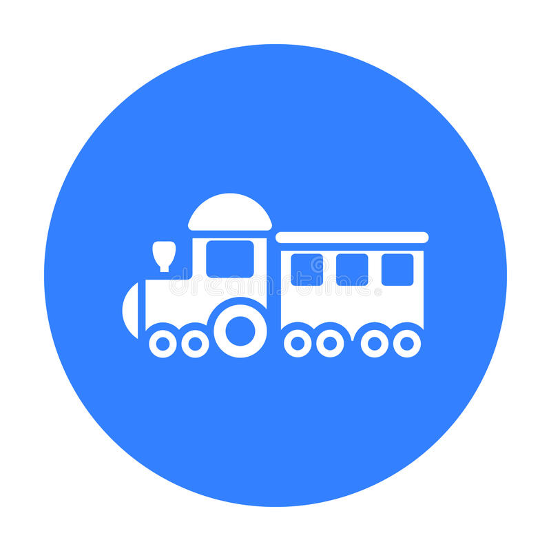 Free Locomotive Black Icon. Illustration For Web And Mobile Design. Stock Photo - 84696370