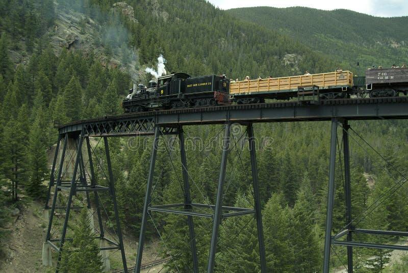 Download Locomotive And Boxcars On Trestle Bridge Editorial Stock Photo - Image: 31956688